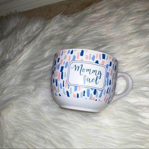 """Jumbo Porcelain """"Mommy Fuel"""" Coffee or Tea Mug"""